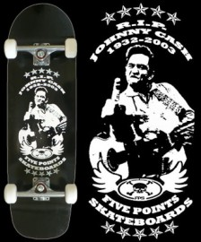 Johnny Cash Pool Skateboard
