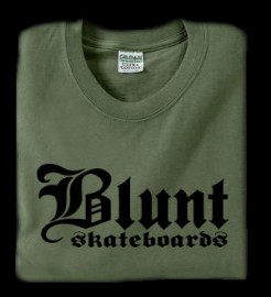 Blunt Skateboards T-shirt Olive